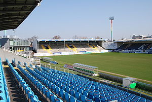 Sportpark Ronhof Thomas Sommer - Image: Playmobil Stadion Nordtribüne