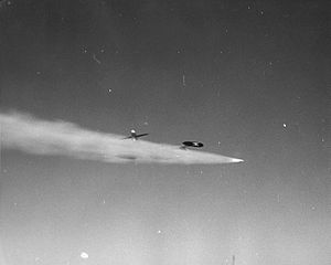 AIR-2 Genie - An F-89 Scorpion firing the live Genie used in the Plumbbob John test