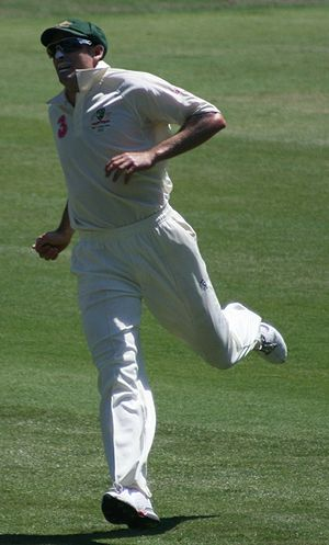 Michael Hussey - Hussey in the field in the Third Test against South Africa at the SCG in January 2009