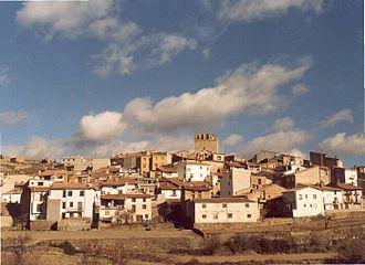 Portell de Morella - Image: Poble Vista Pla