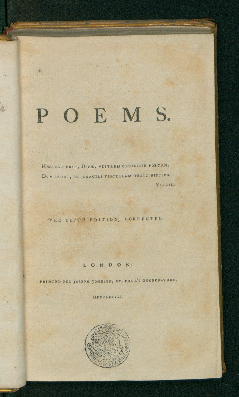 Poems of Anna Laetitia Aikin