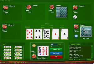 Online poker - Screenshot of open-source PokerTH table