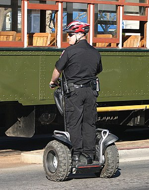English: Police officer on Segway x2.