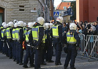 Swedish Police Authority - Policing a rally, 2014