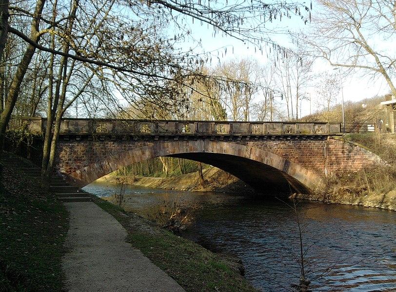 Sainte-Barbe bridge in Metz, Moselle (France).