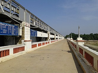 Poondi reservoir - Plaque of Satyamoorthi reservoir