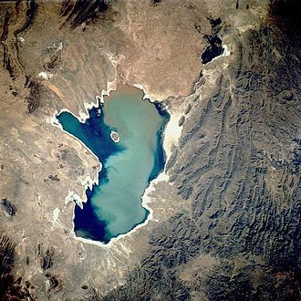 Lake Poopó - Aerial photograph of the lake in 1991