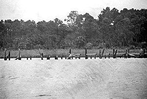 Port Leon, Florida - Government docks at Port Leon