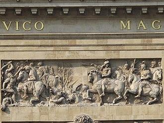 Porte Saint-Denis - Image: Porte Saint Denis Le passage du Rhin