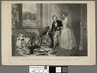 Queen and the Prince Consort at Windsor Castle-1843