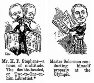 Billee Taylor - Librettist and composer caricatured in a Punch review of their opera Claude Duval