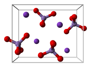Potassium permanganate inorganic chemical compound with the chemical formula KMnO4