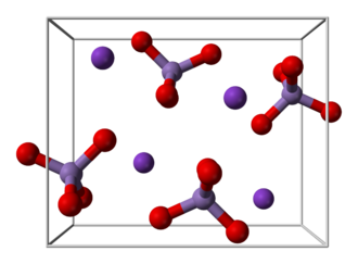 Potassium permanganate - Image: Potassium permanganate 2004 unit cell 3D balls