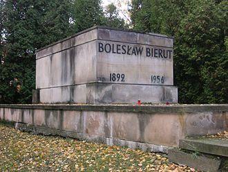Bolesław Bierut - Bierut's grave in Powązki Military Cemetery, 2004