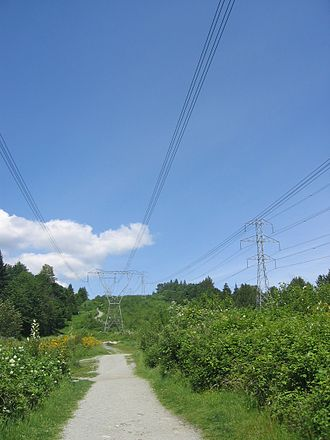 BC Hydro - BC Hydro high voltage transmission lines in Coquitlam