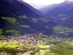 The village viewed from north