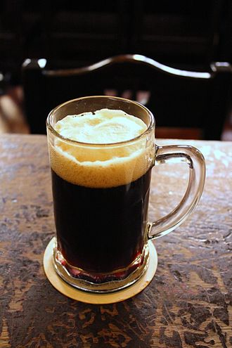 Beer in the Czech Republic - A glass of unfiltered dark beer from U Fleků brewery