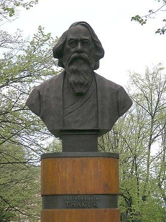Culture of Bengal - Image: Praha, Dejvice Thakurova busta v Thakurove ulici