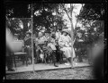 Pres. and Mrs. Harding watching the (...) of Spain and William Tilden (...) partner playing tennis at White House LCCN2016892282.tif