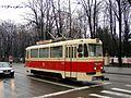 Preserved Iasi two-axle tram 100 in December 2008.jpg