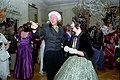 President Bill Clinton and Hillary Clinton dressed as James and Dolly Madison.jpg