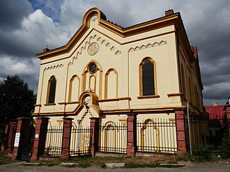 Synagogue architecture - Orthodox synagogue in Prešov, Slovakia.