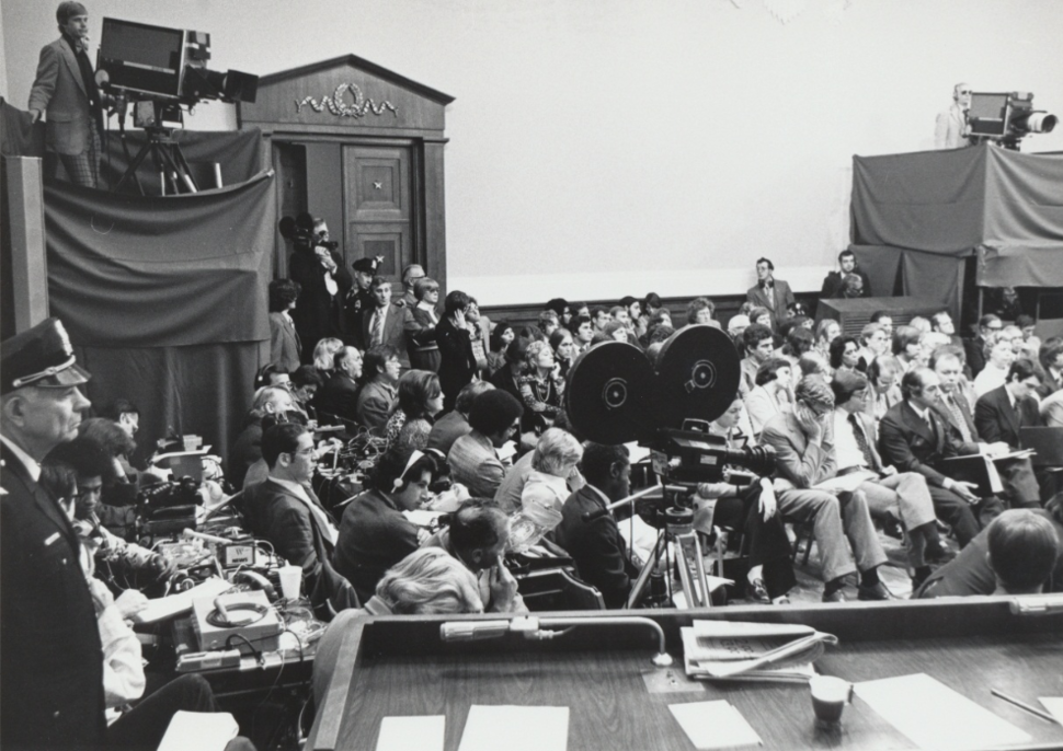 Press coverage of House Judiciary Committee hearings on impeachment of Richard Nixon