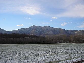 The Priest (mountain) - Priest Mountain as seen from Massies Mill, Va. 12-5-2010