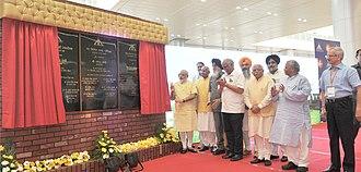 Chandigarh International Airport - Prime Minister Narendra Modi inaugurating the new terminal on 11 September 2015