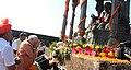 Prime Minister Narendra Modi pays tributes to Chhatrapati Shivaji on Shivaji Jayanti in 2015.jpg