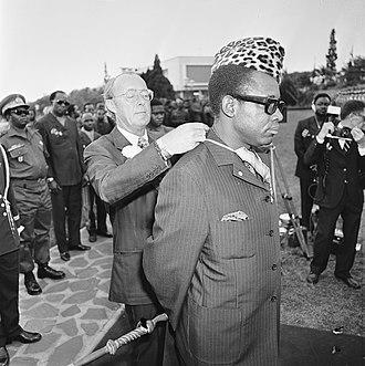 Military dictatorship - Zairean President Mobutu Sese Seko