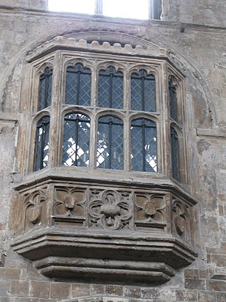 Oriel window - Image: Prior Bolton Oriel Window