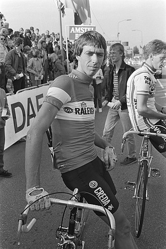 1986 Giro d'Italia - Johan van der Velde (pictured here in August 1982) won one stage at the 1986 Giro d'Italia and came in second in the points classification.
