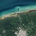 Progreso and Merida satellite image.jpg