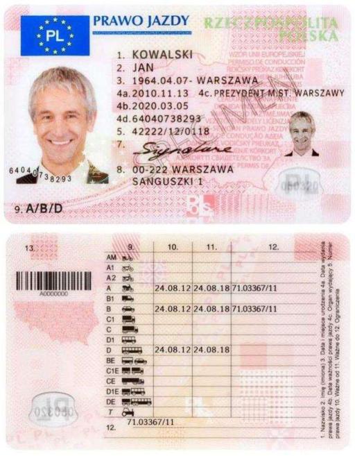 Projekt nowego prawa jazdy