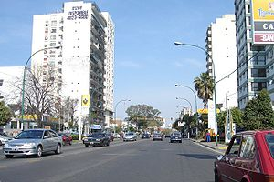 Avenida del Libertador - The avenue in Olivos, Greater Buenos Aires