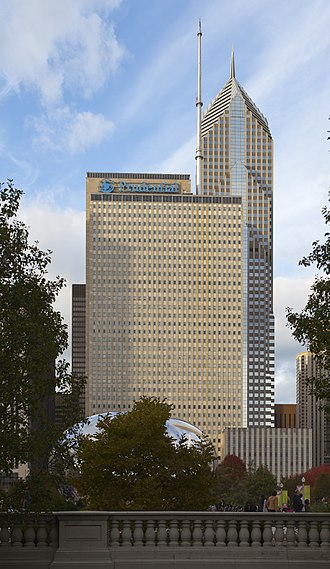 One Prudential Plaza - One Prudential Plaza with Two Prudential Plaza towering behind
