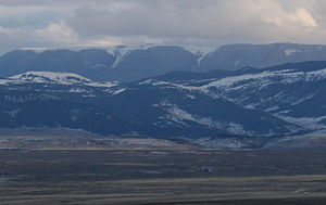 Pryor Mountains - The Pryors from Billings South Hills