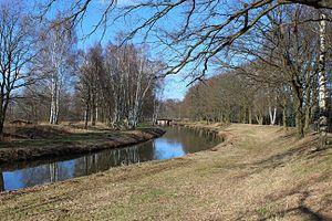 Pulsnitz (river) - The Pulsnitz river in Elsterwerda.