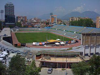 Qemal Stafa Stadium - Image: Qemal Stafa Stadium Tirana