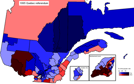 Quebec 1995 Referendum Results