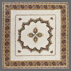 Appliqué - American quilt in Broderie perse, 1846