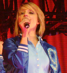 Agron performing at Glee Live! In Concert! tour