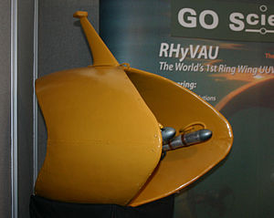 Autonomous Robotics Ltd - GO Science RHyVAU on display at an exhibition in Southampton, UK