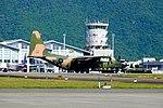 ROCAF C-130H 1320 Landing down Hualien Air Force Base Runway 20170923b.jpg