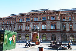 The Bra?ov County Prefecture building of the interwar period, currently the rectory of Transilvania University of Bra?ov.