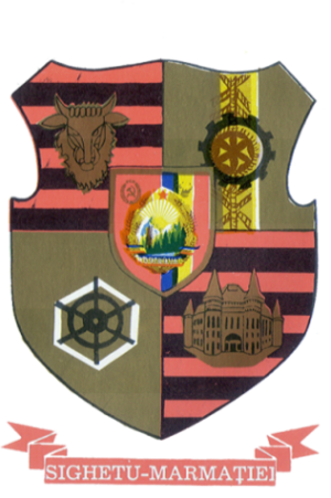 Sighetu Marmației - Coat of arms during the Socialist Republic.