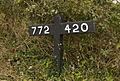Railway gradient marker - geograph.org.uk - 671689.jpg