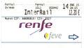 Railway ticket Renfe-Feve Ferrol-Oviedo Interrail 12 euro 20 January 2015.png