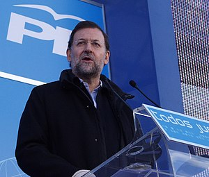 Mariano Rajoy - Mariano Rajoy during a party meeting in Bilbao, 2005